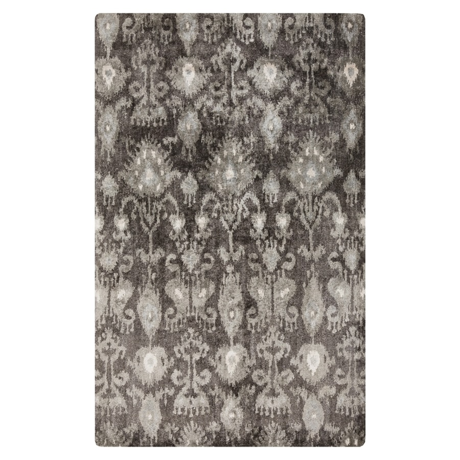 Surya Gemini Charcoal Rectangular Indoor Handcrafted Distressed Area Rug (Common: 5 x 8; Actual: 5-ft W x 8-ft L)