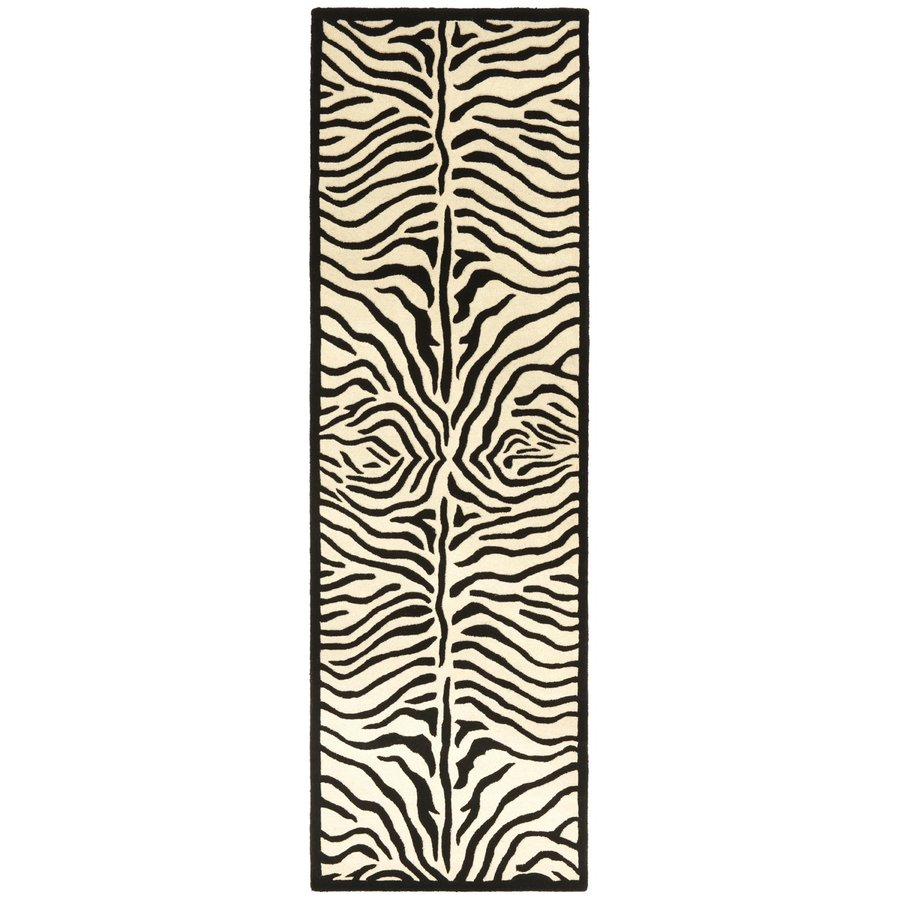 ST CROIX TRADING Safari Zebra Rectangular Indoor Handcrafted Runner (Common: 2 X 8; Actual: 2.5-ft W x 8-ft L)