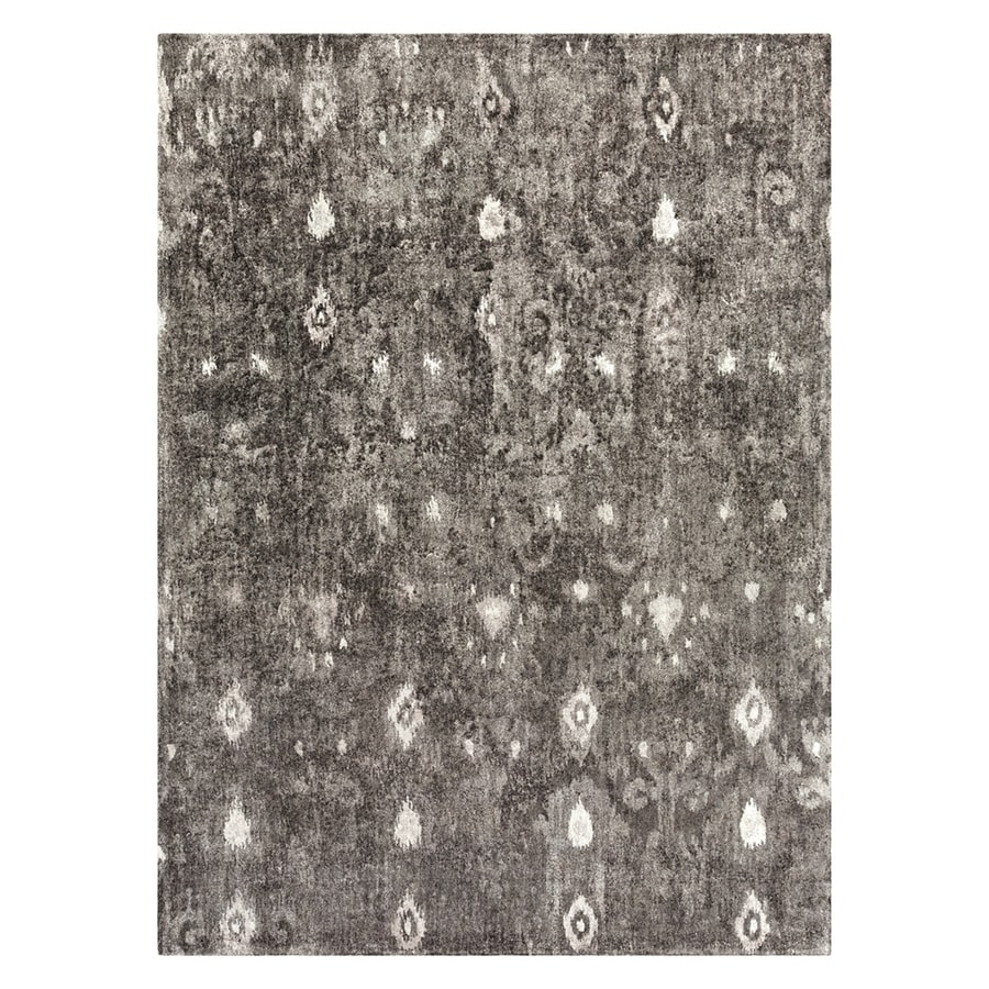 Surya Gemini Charcoal Rectangular Indoor Handcrafted Distressed Area Rug (Common: 8 x 11; Actual: 8-ft W x 11-ft L)