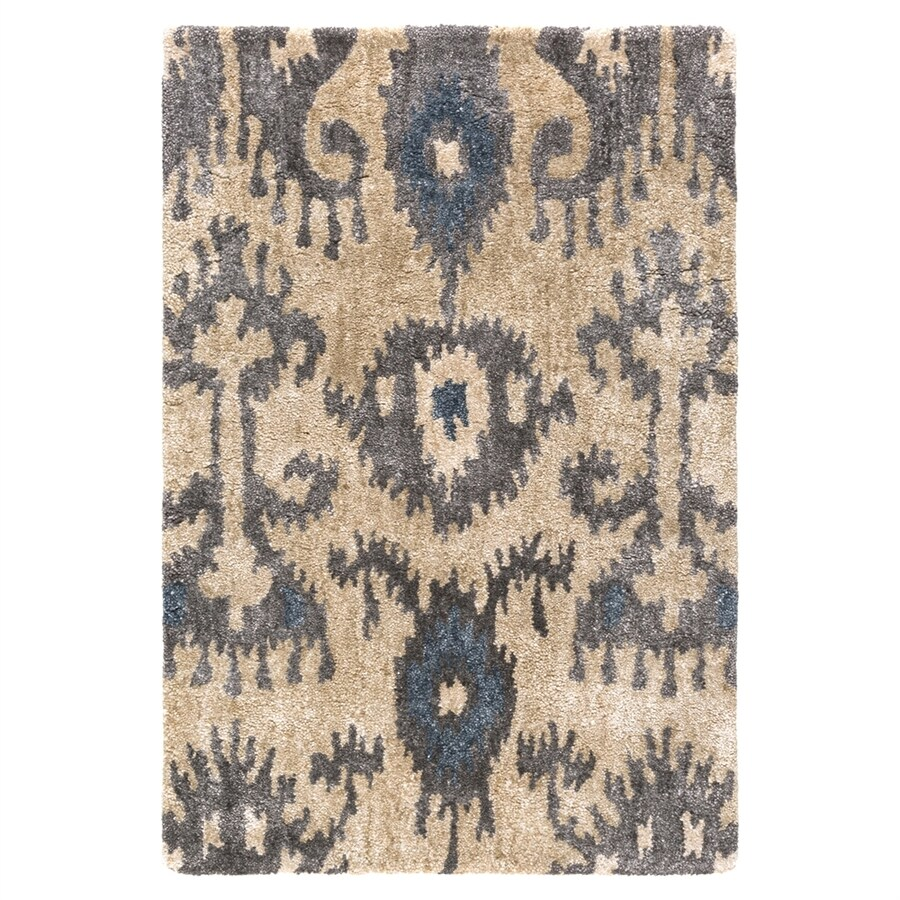 Surya Gemini Black/Neutral Rectangular Indoor Handcrafted Oriental Throw Rug (Common: 2 x 3; Actual: 2-ft W x 3-ft L)