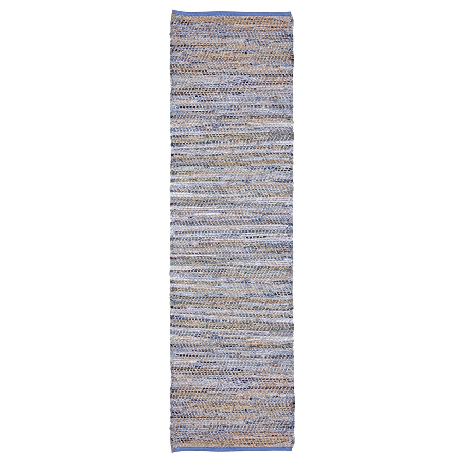 ST CROIX TRADING Earth First Blue Jeans Rectangular Indoor Handcrafted Runner (Common: 2 X 12; Actual: 2.5-ft W x 12-ft L)