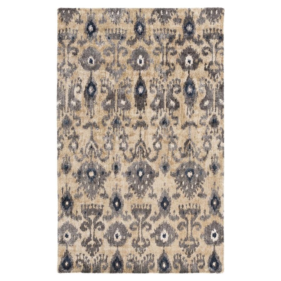 Surya Gemini Black/Neutral Rectangular Indoor Handcrafted Oriental Area Rug (Common: 5 x 8; Actual: 5-ft W x 8-ft L)