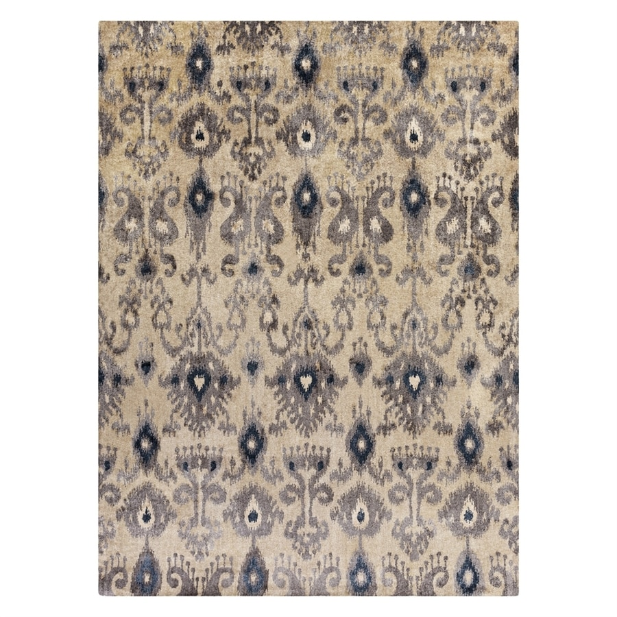 Surya Gemini Black/Neutral Rectangular Indoor Handcrafted Oriental Area Rug (Common: 8 x 11; Actual: 8-ft W x 11-ft L)
