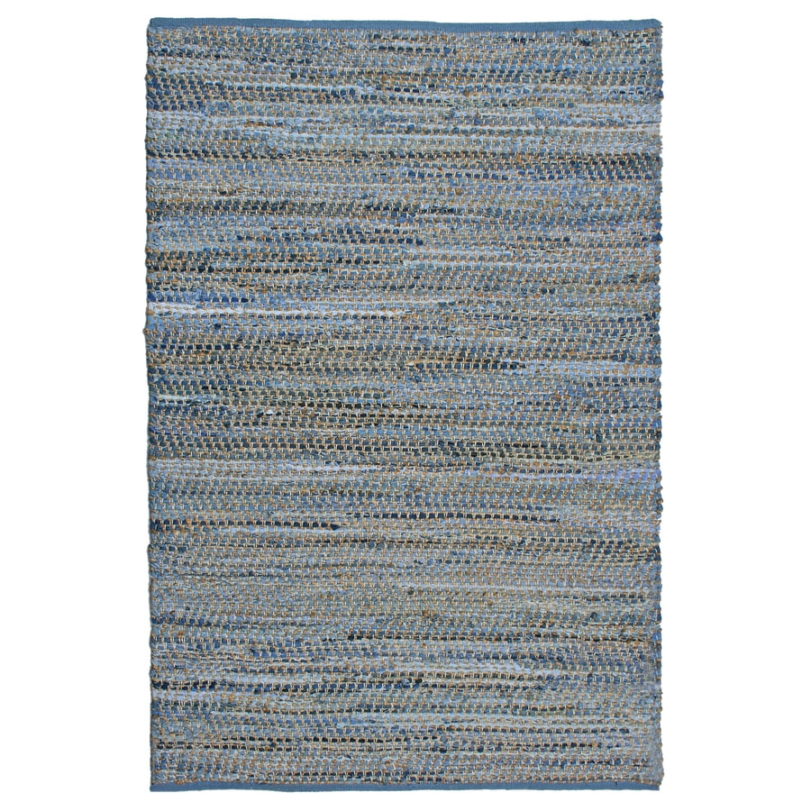 ST CROIX TRADING Earth First Blue Jeans Rectangular Indoor Handcrafted Area Rug (Common: 4 X 6; Actual: 4-ft W x 6-ft L)