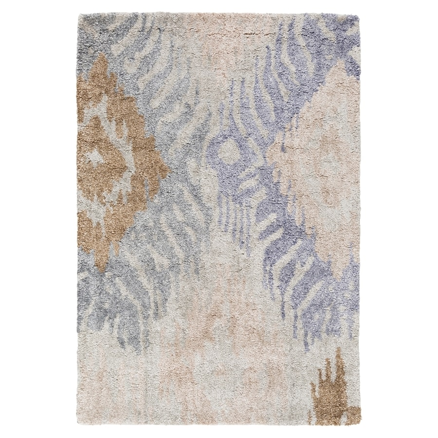 Surya Gemini Blue/Brown Rectangular Indoor Handcrafted Area Rug (Common: 3 x 5; Actual: 3-ft 3-in W x 5-ft 3-in L)