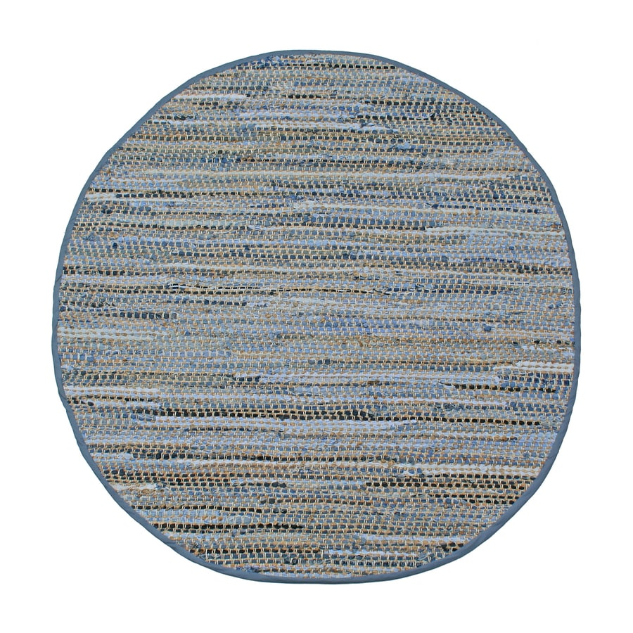 ST CROIX TRADING Earth First Blue Jeans Round Indoor Handcrafted Area Rug (Common:; Actual: W x L x 5-ft dia)