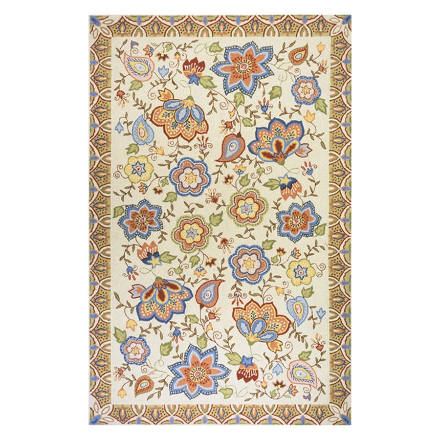 Momeni Spencer Beige Rectangular Indoor Handcrafted Nature Area Rug (Common: 4 X 6; Actual: 3.6-ft W x 5.6-ft L)