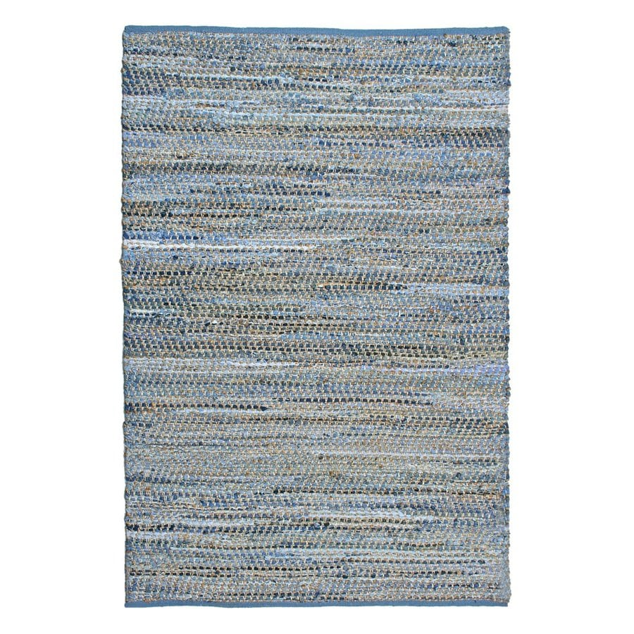 ST CROIX TRADING Earth First Blue Jeans Rectangular Indoor Handcrafted Area Rug (Common: 9 X 12; Actual: 9-ft W x 12-ft L)