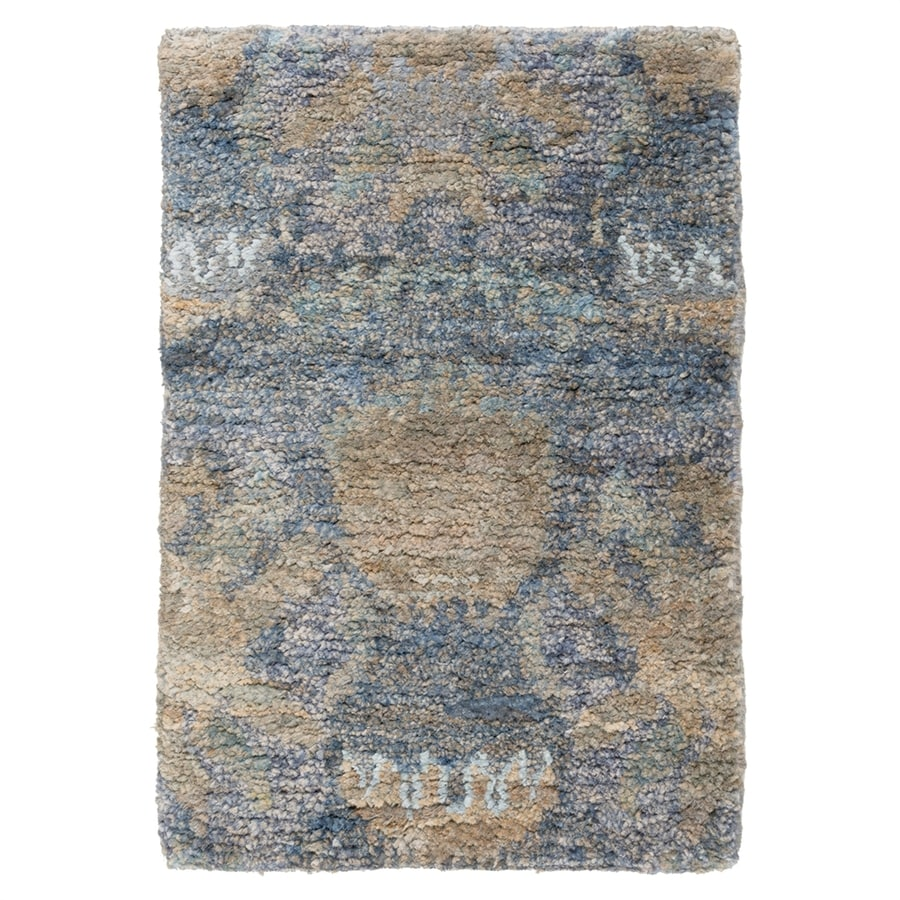 Surya Scarborough Blue/brown Rectangular Indoor Handcrafted Area Rug (Common: 3 x 5; Actual: 3-ft 3-in W x 5-ft 3-in L)