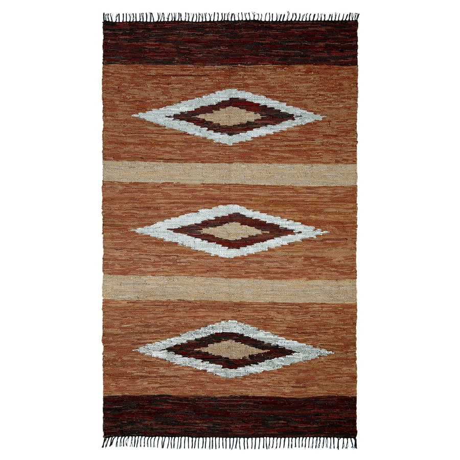 ST CROIX TRADING Matador Brown Rectangular Indoor Handcrafted Southwestern Area Rug (Common: 10 X 14; Actual: 10-ft W x 14-ft L)
