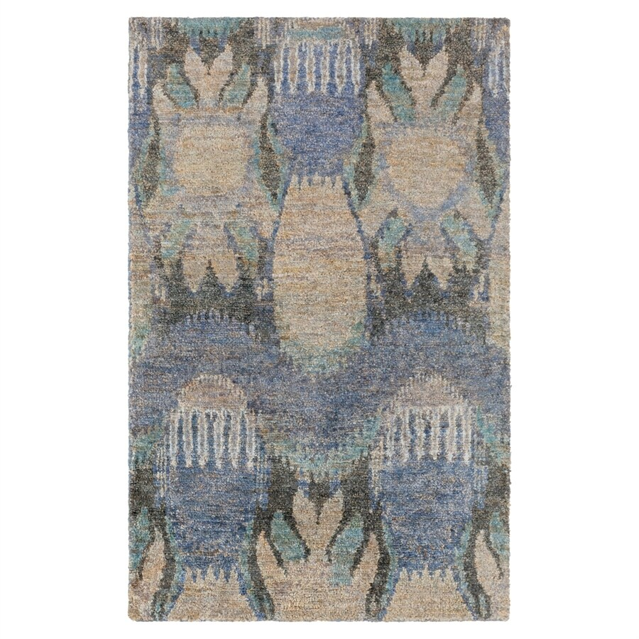 Surya Scarborough Blue/brown Rectangular Indoor Handcrafted Area Rug (Common: 5 x 8; Actual: 5-ft W x 8-ft L)
