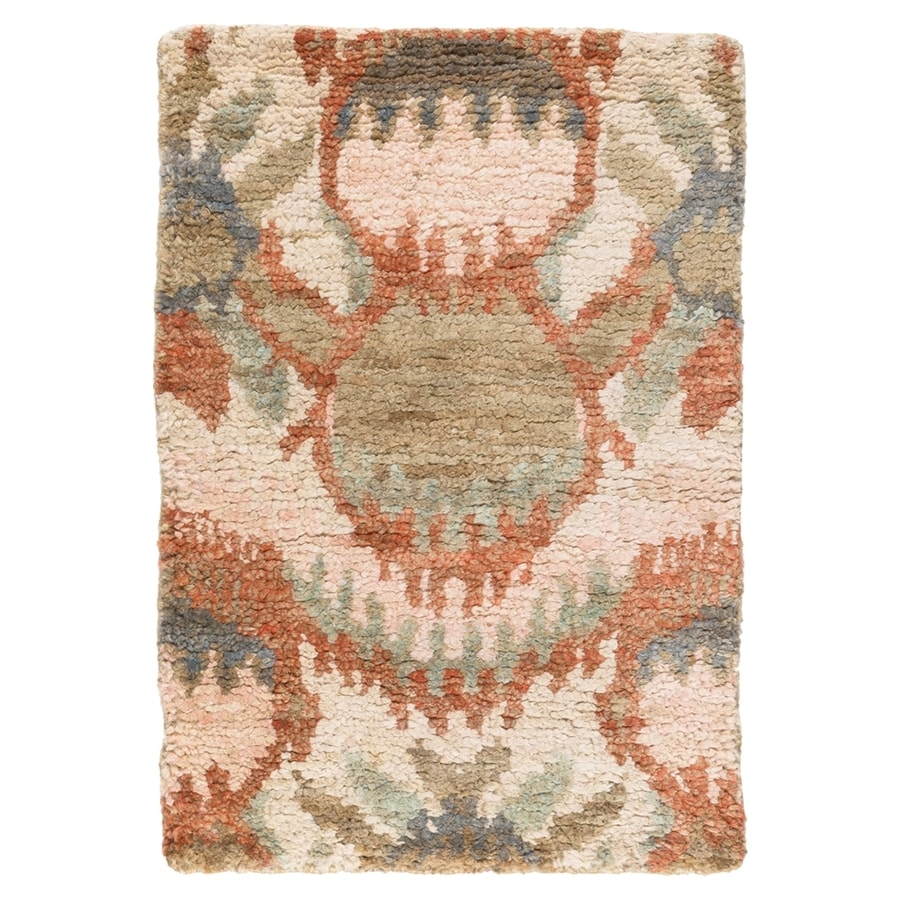 Surya Scarborough Pink Rectangular Indoor Handcrafted Throw Rug (Common: 2 x 3; Actual: 2-ft W x 3-ft L)