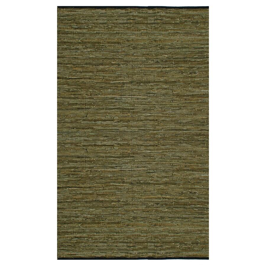 ST CROIX TRADING Matador Green Rectangular Indoor Handcrafted Area Rug (Common: 10 X 14; Actual: 10-ft W x 14-ft L)