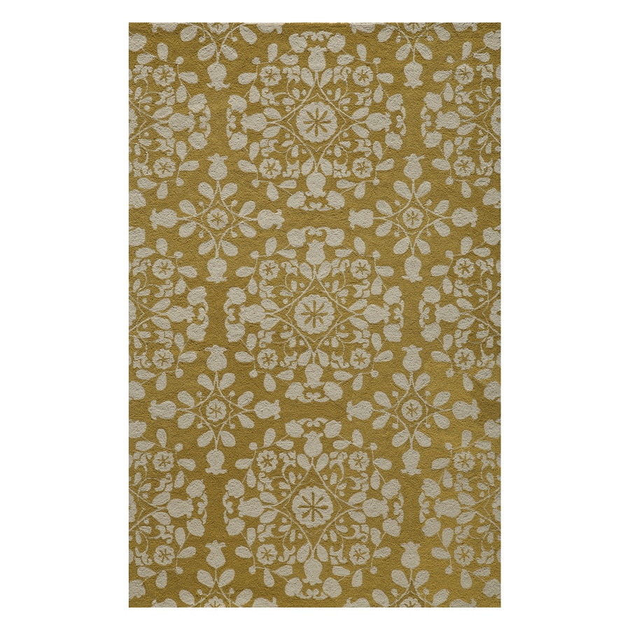 Momeni Suzani Hook Gold Rectangular Indoor Handcrafted Oriental Throw Rug (Common: 2 X 3; Actual: 2-ft W x 3-ft L)