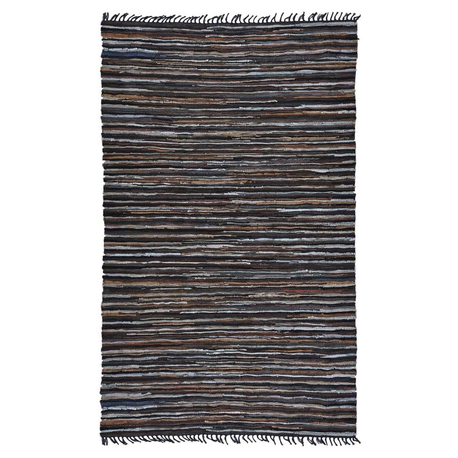 ST CROIX TRADING Matador Brown Rectangular Indoor Handcrafted Area Rug (Common: 2 X 4; Actual: 2.5-ft W x 4.17-ft L)