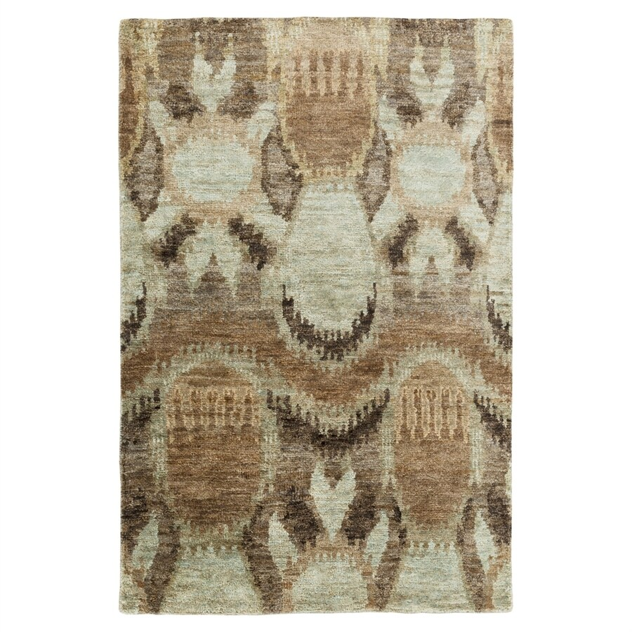 Surya Scarborough Neutral/Green Rectangular Indoor Handcrafted Area Rug (Common: 5 x 8; Actual: 5-ft W x 8-ft L)