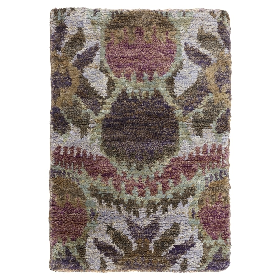 Surya Scarborough Purple Rectangular Indoor Handcrafted Area Rug (Common: 3 x 5; Actual: 3-ft 3-in W x 5-ft 3-in L)