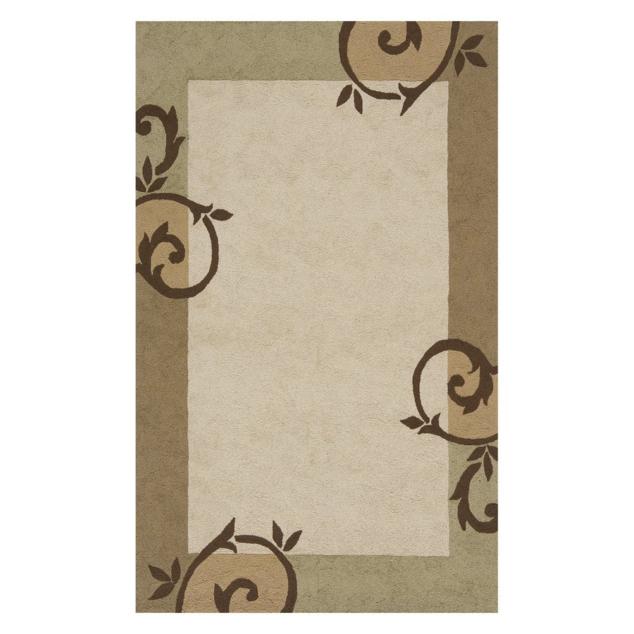 Momeni Veranda Cream Rectangular Indoor/Outdoor Handcrafted Nature Area Rug (Common: 5 X 8; Actual: 5-ft W x 8-ft L)