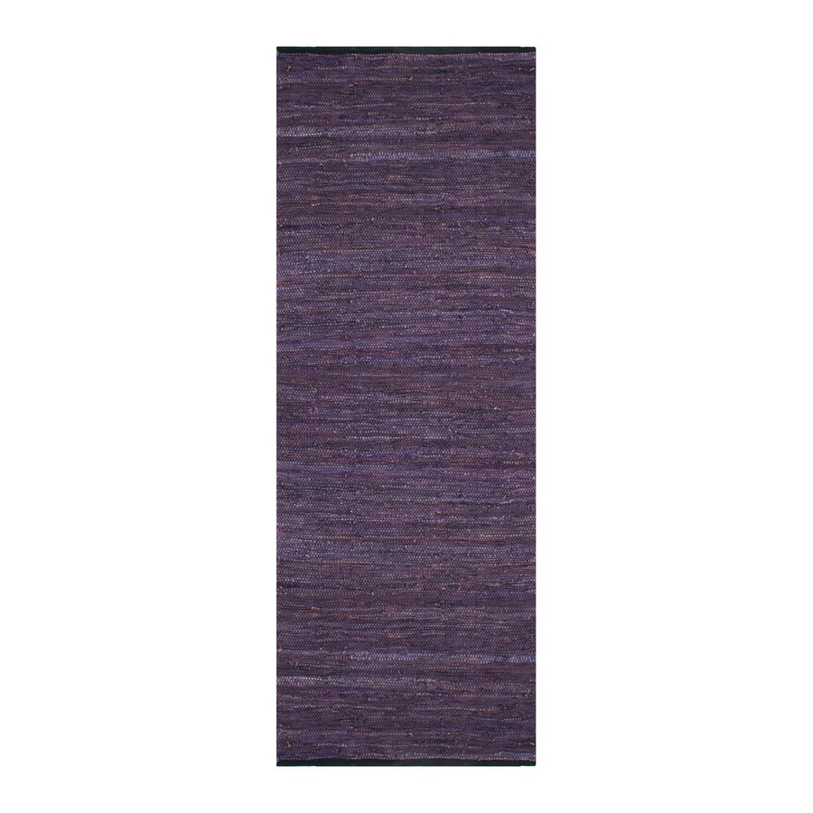 ST CROIX TRADING Matador Purple Rectangular Indoor Handcrafted Runner (Common: 2 X 12; Actual: 2.5-ft W x 12-ft L)