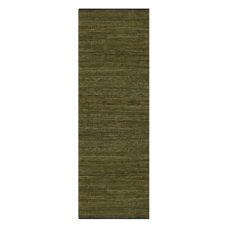 ST CROIX TRADING Matador Green Rectangular Indoor Handcrafted Runner (Common: 2 X 12; Actual: 2.5-ft W x 12-ft L)