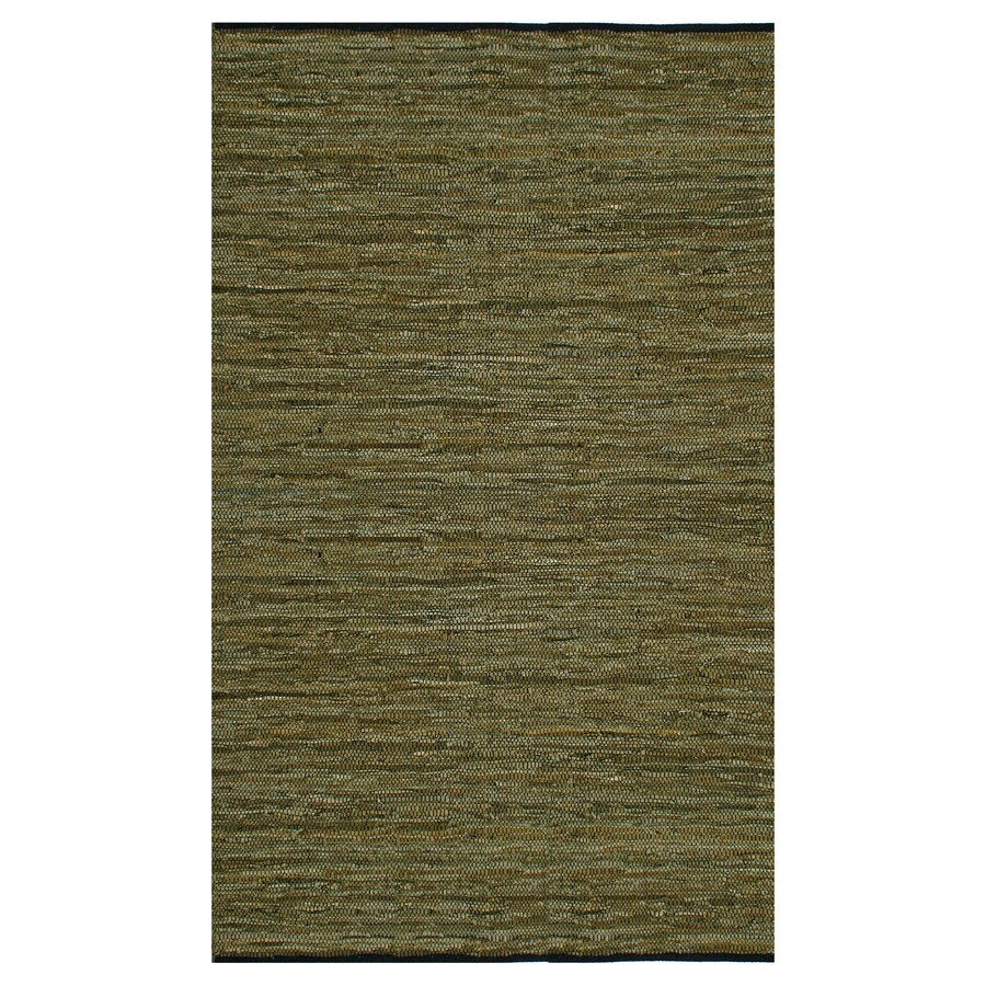 ST CROIX TRADING Matador Green Rectangular Indoor Handcrafted Area Rug (Common: 4 X 6; Actual: 4-ft W x 6-ft L)
