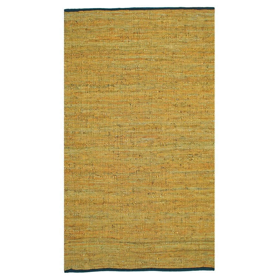 ST CROIX TRADING Matador Gold Rectangular Indoor Handcrafted Area Rug (Common: 4 X 6; Actual: 4-ft W x 6-ft L)
