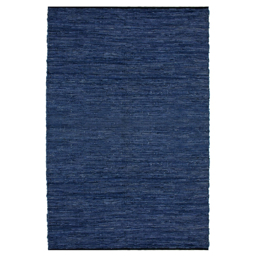 ST CROIX TRADING Matador Blue Rectangular Indoor Handcrafted Area Rug (Common: 4 X 6; Actual: 4-ft W x 6-ft L)