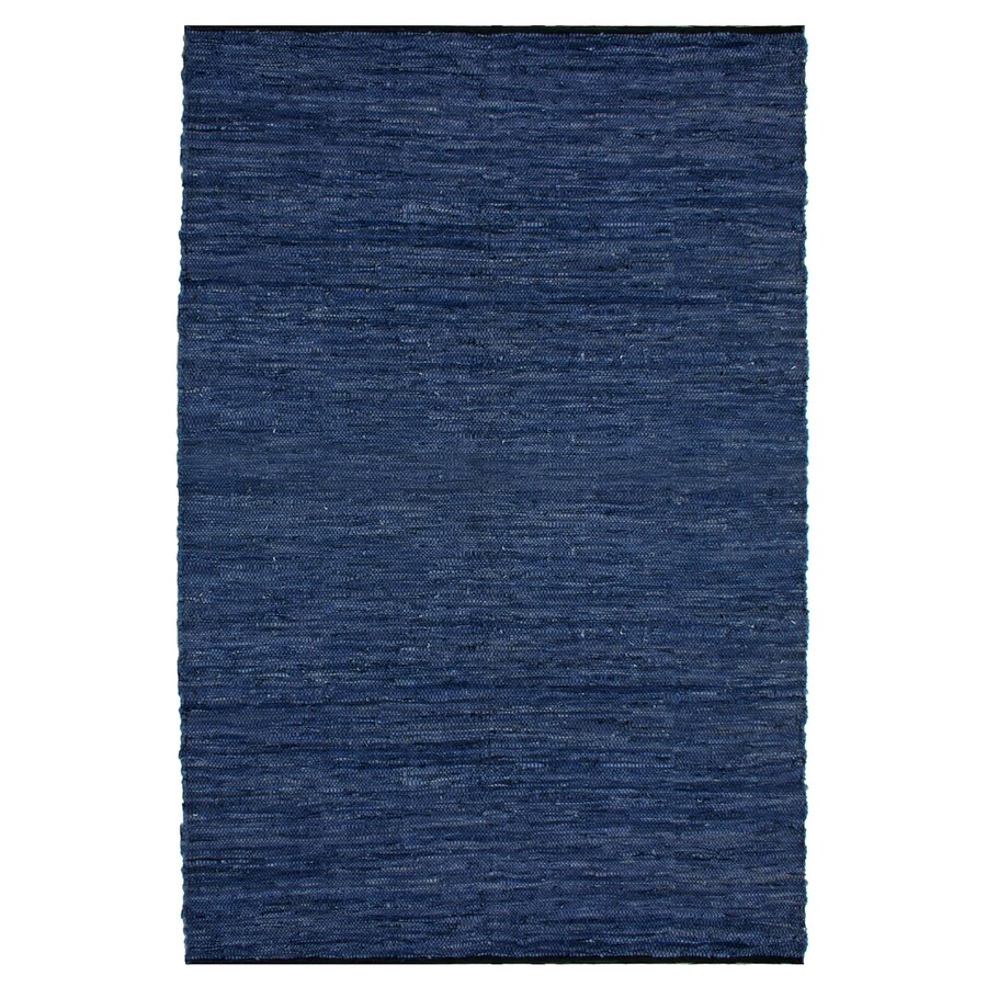 ST CROIX TRADING Matador Blue Rectangular Indoor Handcrafted Area Rug (Common: 5 X 8; Actual: 5-ft W x 8-ft L)