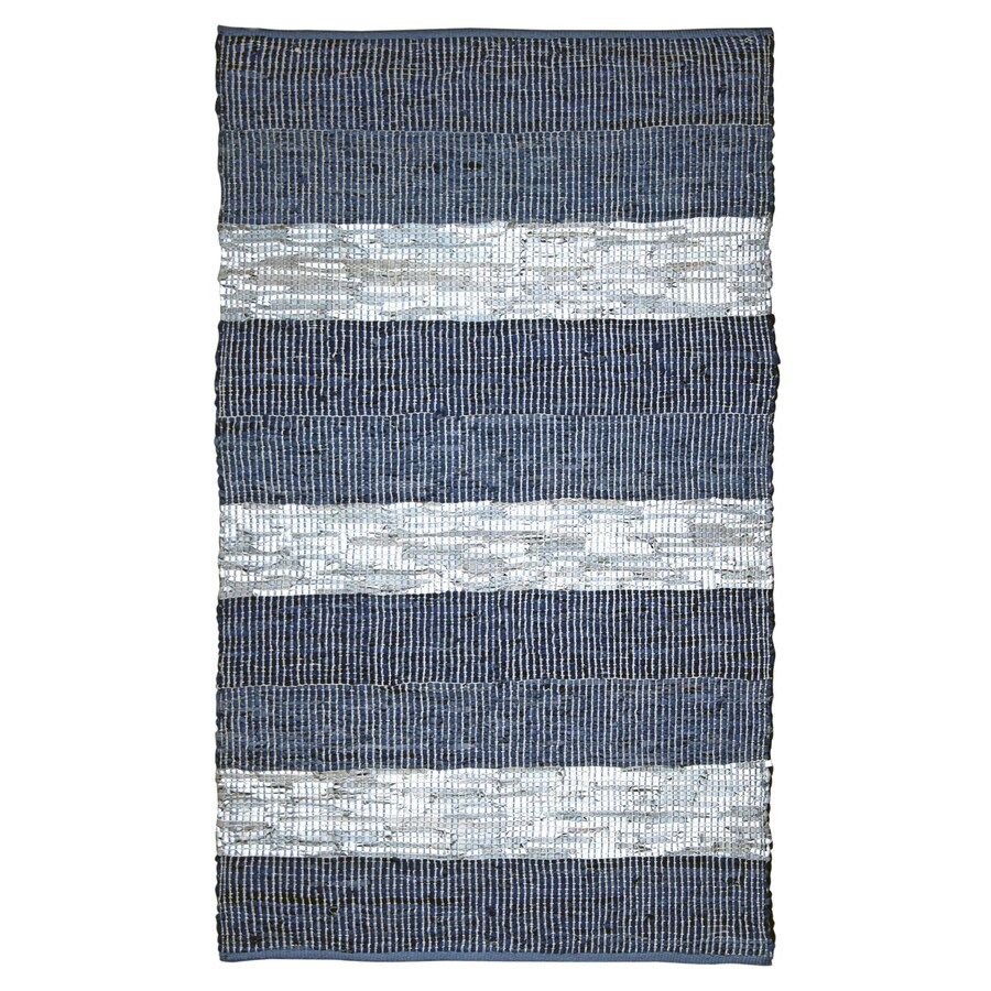 ST CROIX TRADING Matador Blue stripe Rectangular Indoor Handcrafted Area Rug (Common: 5 X 8; Actual: 5-ft W x 8-ft L)