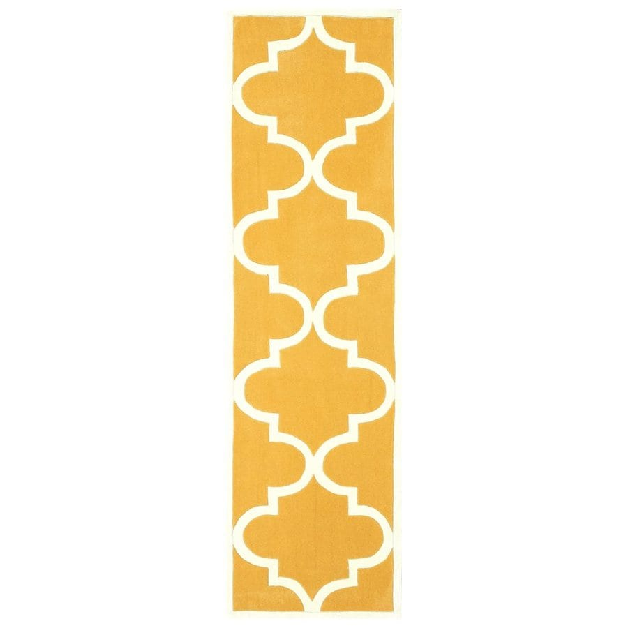 nuLOOM Mustard Rectangular Indoor Handcrafted Runner (Common: 2 X 10; Actual: 2.6-ft W x 10-ft L)