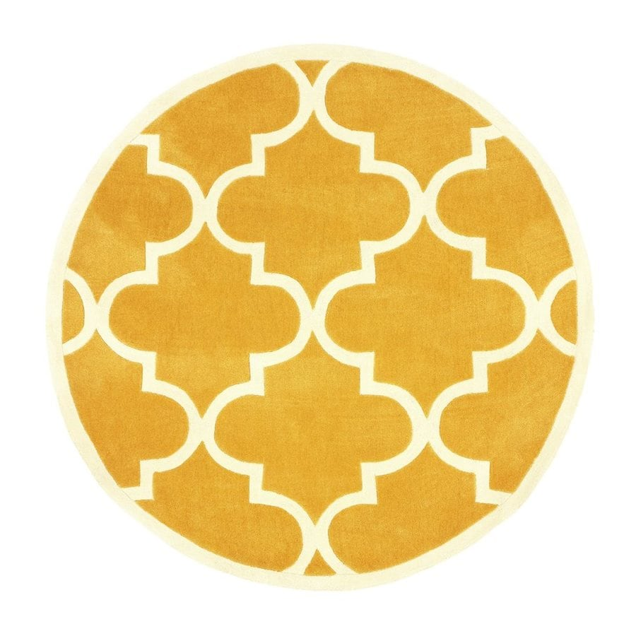 nuLOOM Mustard Round Indoor Handcrafted Area Rug (Common:; Actual: W x L x 6-ft dia)