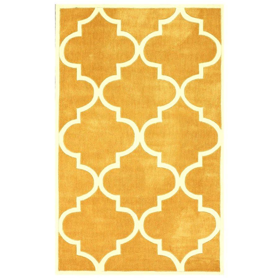 nuLOOM Mustard Rectangular Indoor Handcrafted Area Rug (Common: 6 X 9; Actual: 6-ft W x 9-ft L)