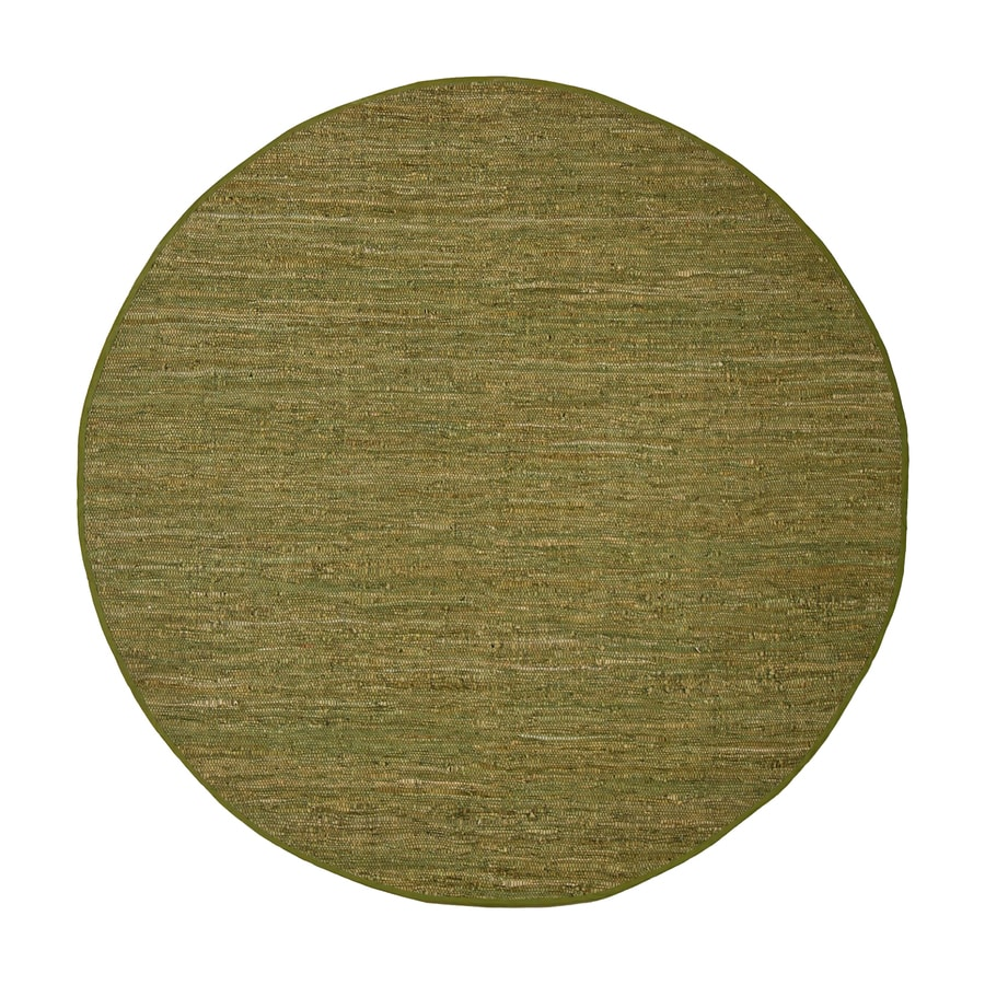 ST CROIX TRADING Matador Green Round Indoor Handcrafted Area Rug (Common:; Actual: W x L x 6-ft dia)