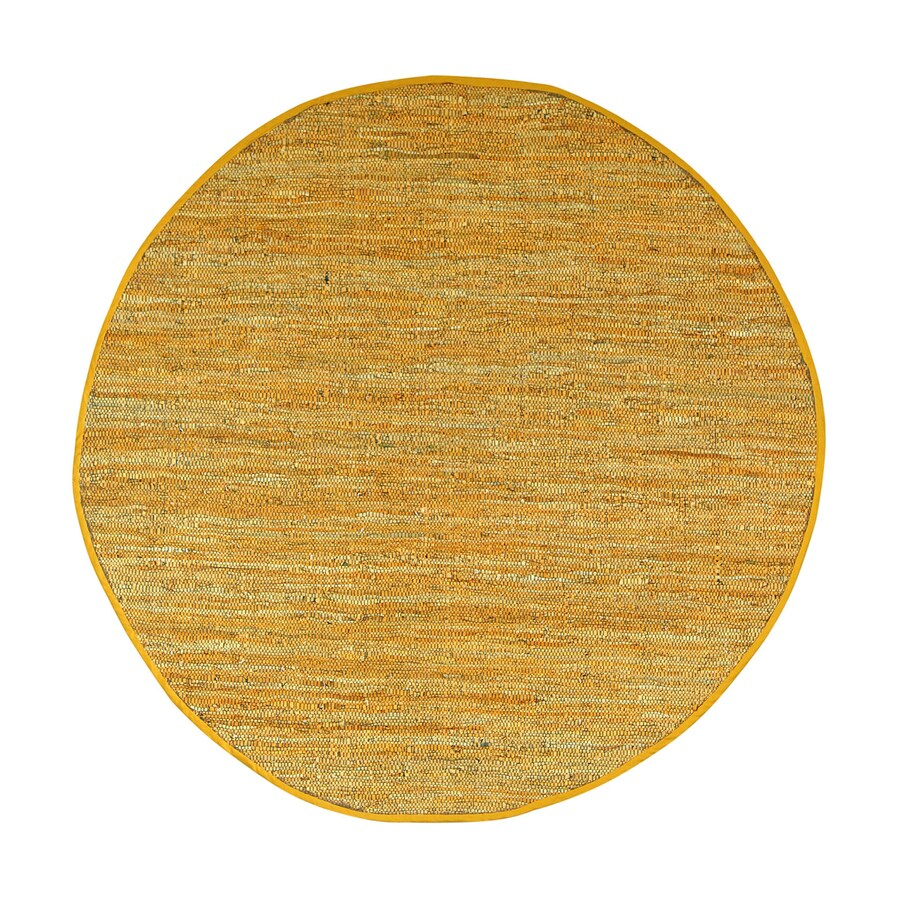 ST CROIX TRADING Matador Gold Round Indoor Handcrafted Area Rug (Common:; Actual: W x L x 6-ft dia)