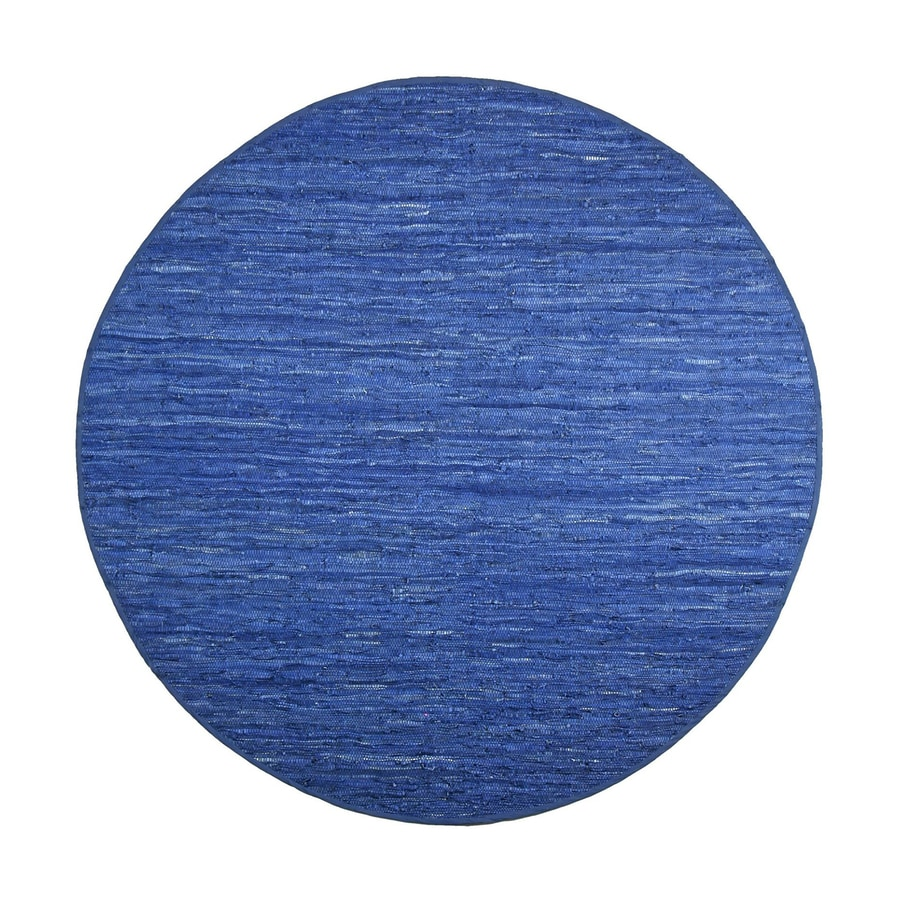 ST CROIX TRADING Matador Blue Round Indoor Handcrafted Area Rug (Common:; Actual: W x L x 6-ft dia)