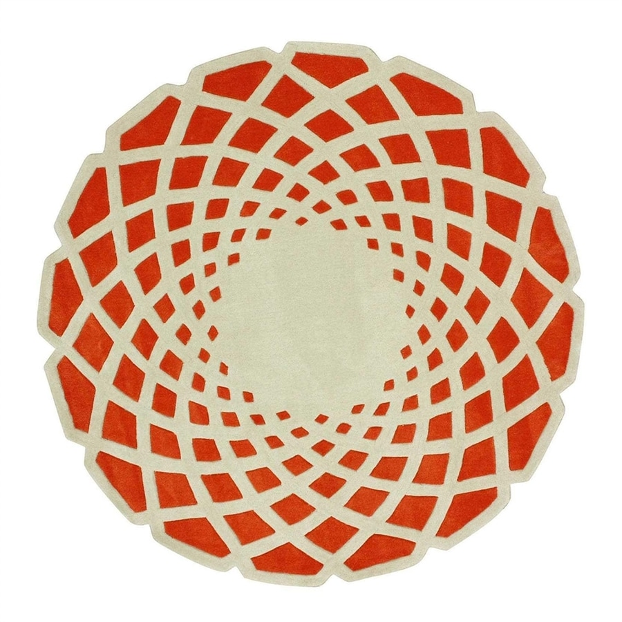 nuLOOM Orange Round Indoor Area Rug (Common:; Actual: W x L x 8-ft dia)