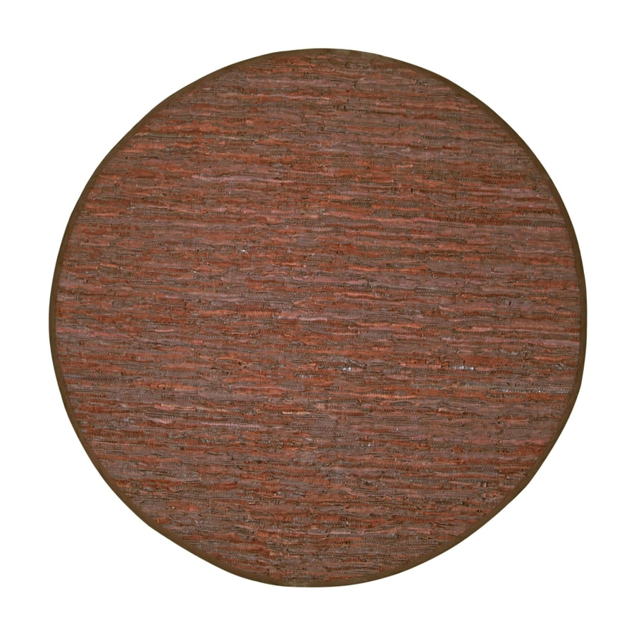 ST CROIX TRADING Matador Brown Round Indoor Handcrafted Area Rug (Common:; Actual: W x L x 8-ft dia)