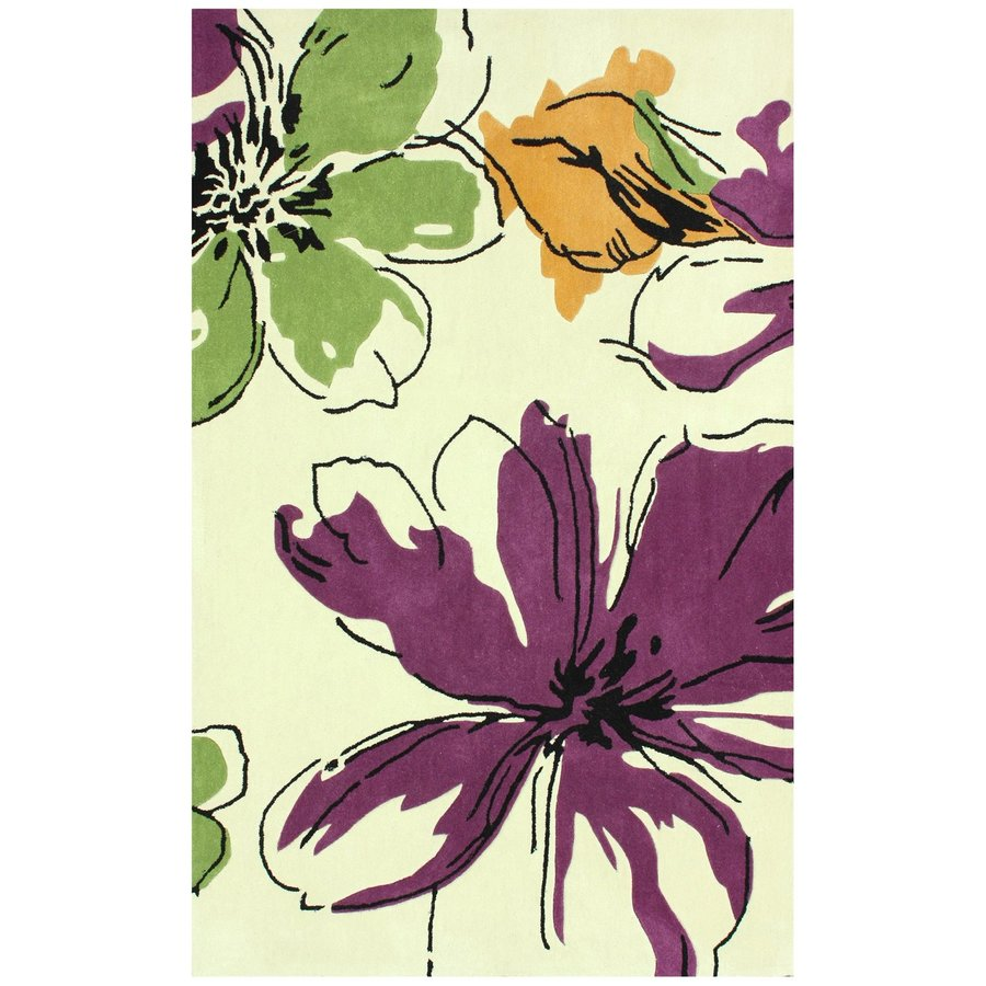 nuLOOM Purple Rectangular Indoor Handcrafted Nature Area Rug (Common: 5 X 8; Actual: 5-ft W x 8-ft L)