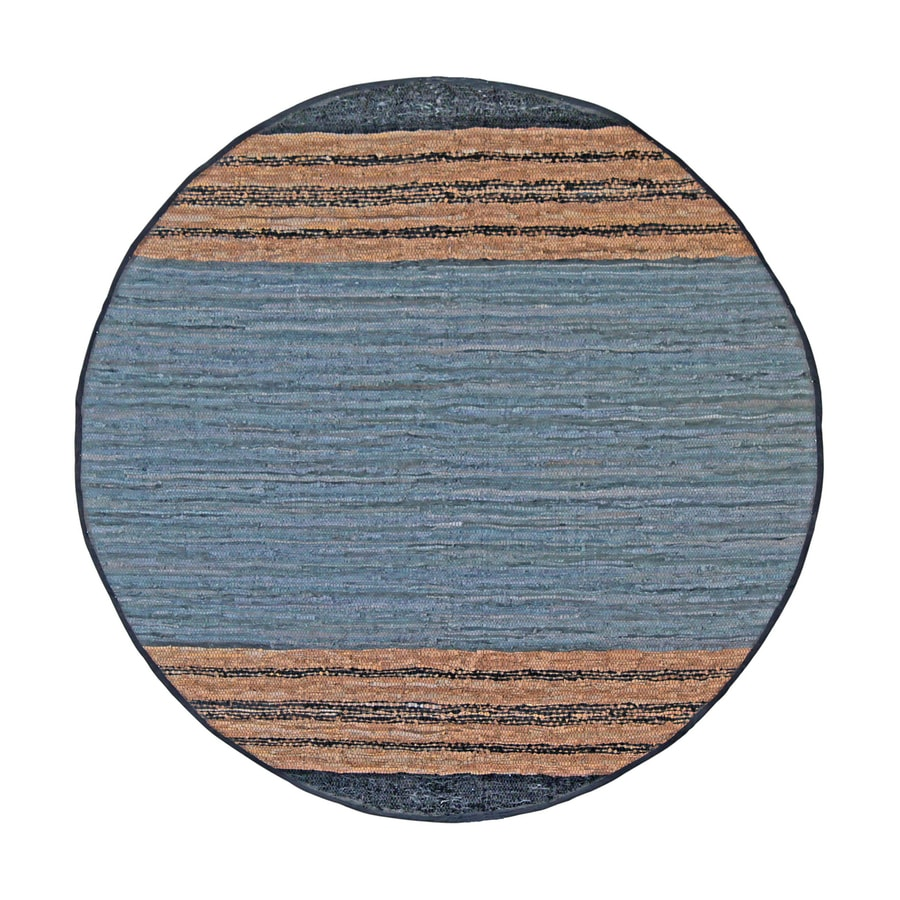 ST CROIX TRADING Matador Gray Round Indoor Handcrafted Area Rug (Common:; Actual: W x L x 8-ft dia)