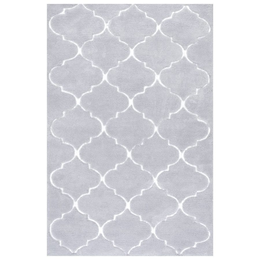 nuLOOM Grey Rectangular Indoor Handcrafted Area Rug (Common: 8 X 10; Actual: 7.5-ft W x 9.5-ft L)