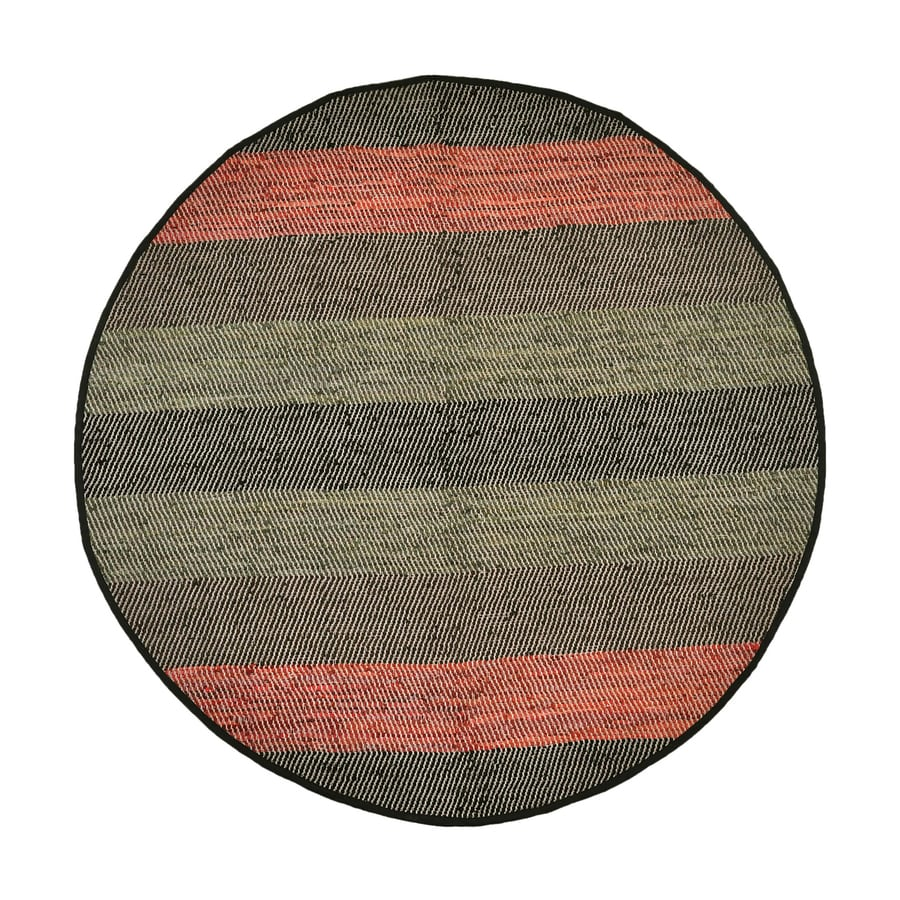 ST CROIX TRADING Matador Black Round Indoor Handcrafted Area Rug (Common:; Actual: W x L x 8-ft dia)