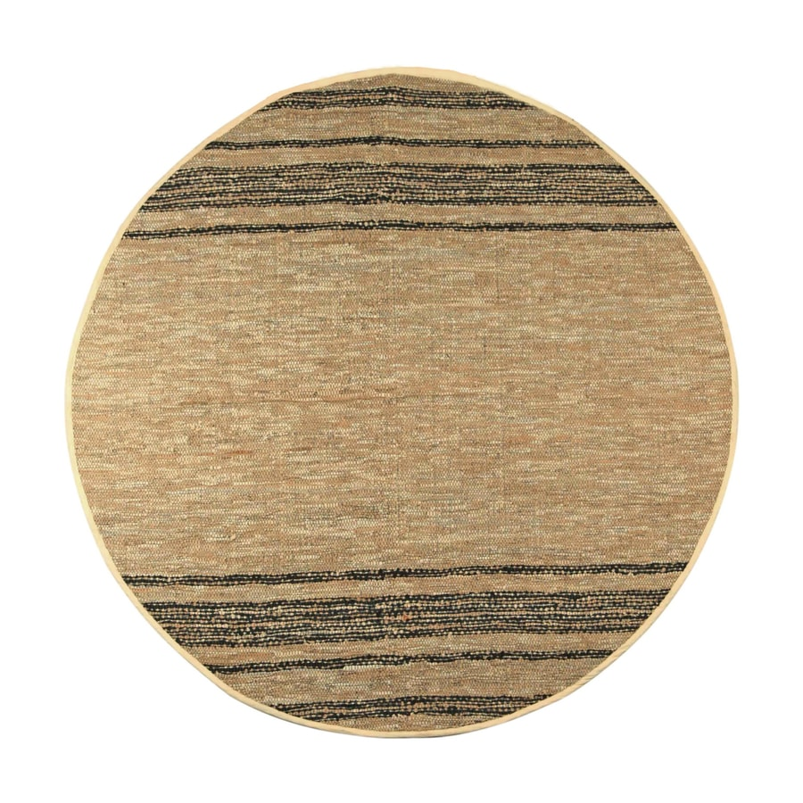ST CROIX TRADING Matador Tan Round Indoor Handcrafted Area Rug (Common:; Actual: W x L x 8-ft dia)