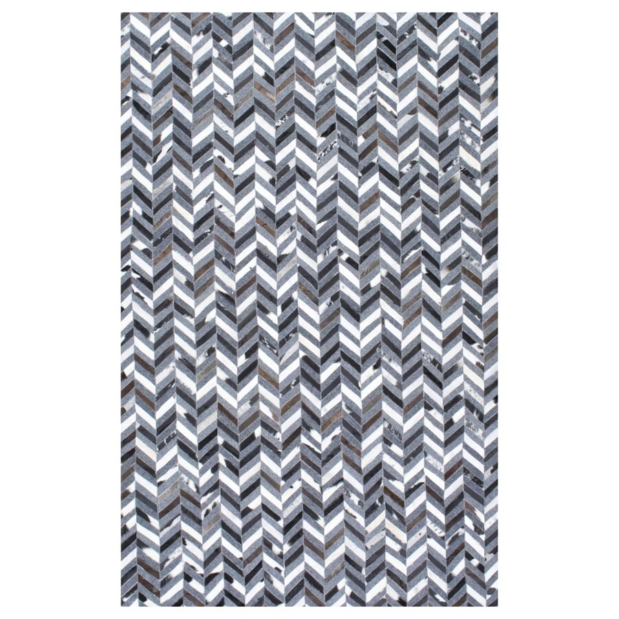 nuLOOM Cowhide Rectangular Indoor Handcrafted Area Rug (Common: 5 X 8; Actual: 5-ft W x 8-ft L)