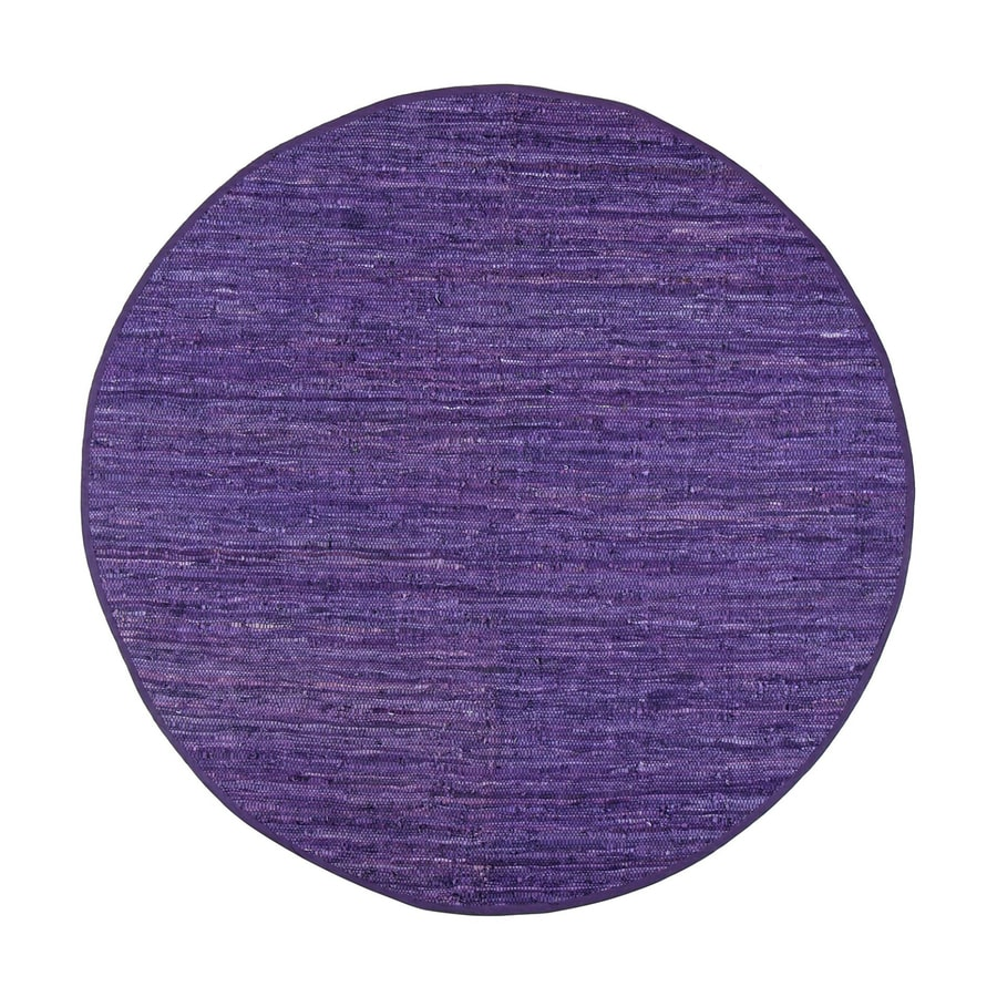 ST CROIX TRADING Matador Purple Round Indoor Handcrafted Area Rug (Common:; Actual: W x L x 8-ft dia)
