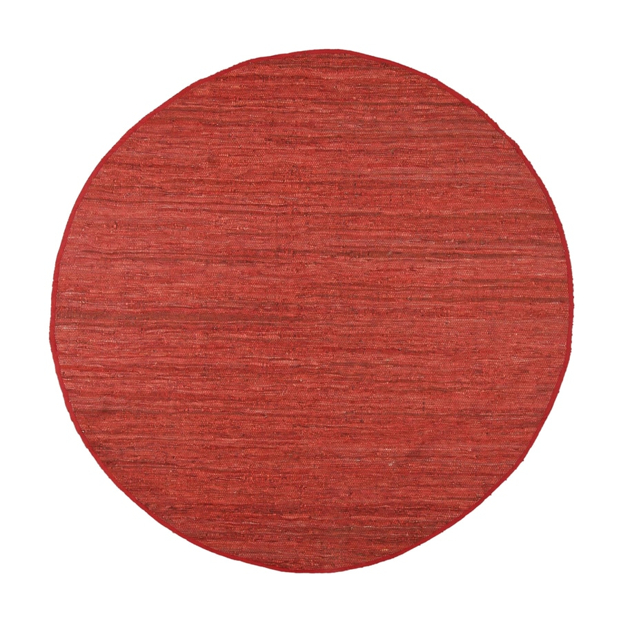 ST CROIX TRADING Matador Copper Round Indoor Handcrafted Area Rug (Common:; Actual: W x L x 8-ft dia)
