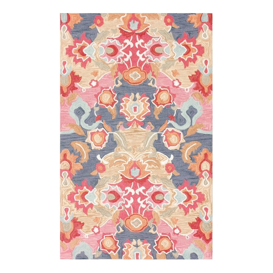 nuLOOM Multi Rectangular Indoor Handcrafted Tropical Area Rug (Common: 6 X 9; Actual: 6-ft W x 9-ft L)