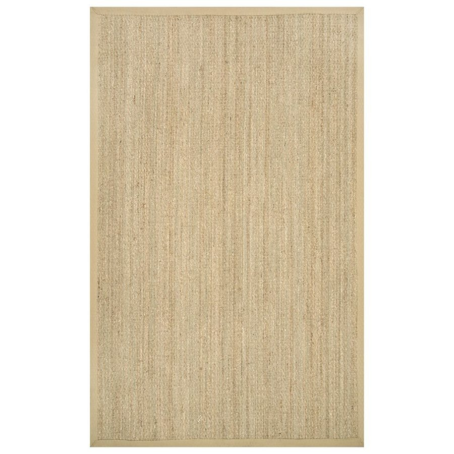 nuLOOM Beige Rectangular Indoor Machine-made Coastal Area Rug (Common: 5 X 8; Actual: 5-ft W x 8-ft L)