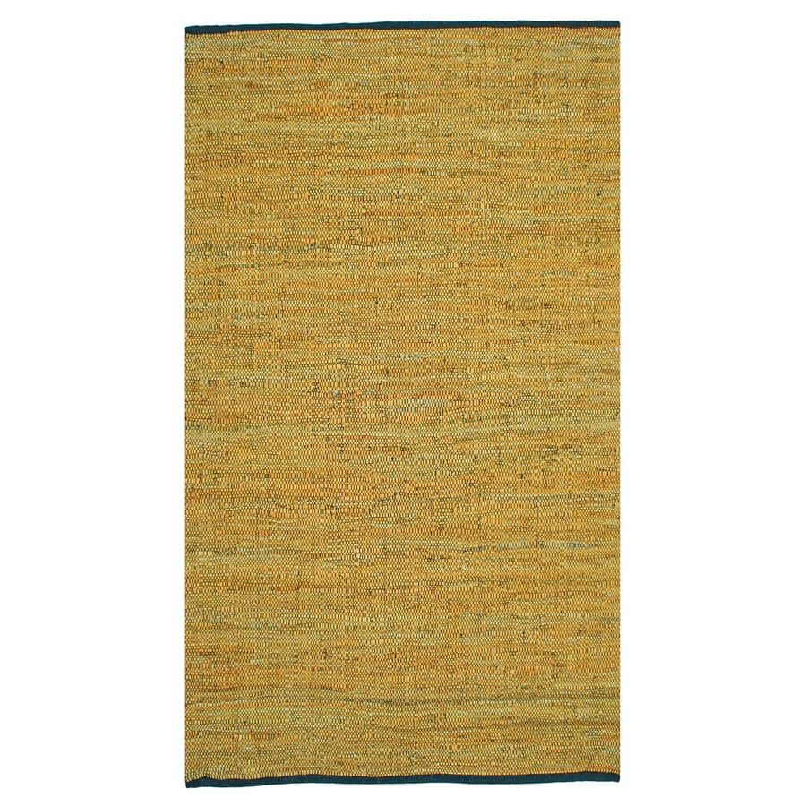 ST CROIX TRADING Matador Gold Rectangular Indoor Handcrafted Area Rug (Common: 9 X 12; Actual: 9-ft W x 12-ft L)