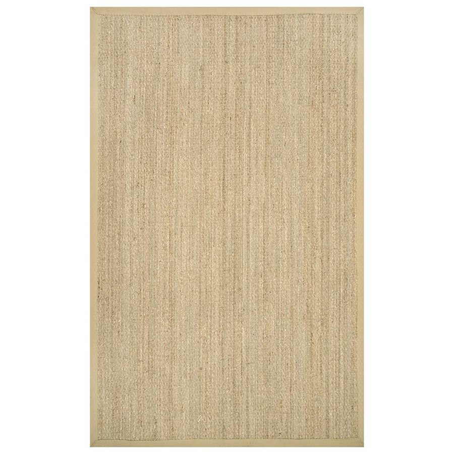 nuLOOM Beige Rectangular Indoor Machine-made Coastal Area Rug (Common: 9 X 12; Actual: 9-ft W x 12-ft L)