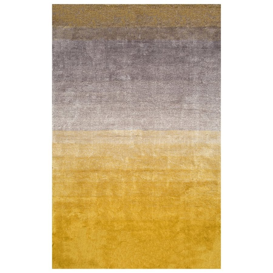 nuLOOM Yellow Rectangular Indoor Handcrafted Area Rug (Common: 5 X 8; Actual: 5-ft W x 8-ft L)